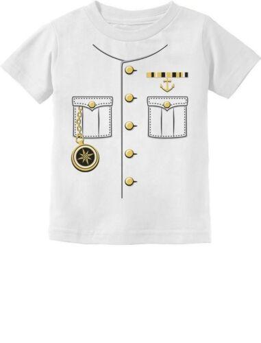 Yacht Cruise Ship Captain Halloween Costume Toddler Infant Kids T-Shirt Uniform