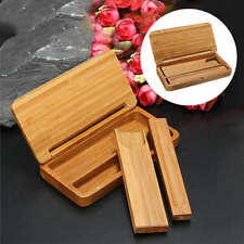 Chinese Wood Stick Coffin Incense Box Holder Storage Burner Handmade Home Decors