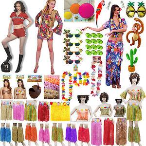 31cfb85a325a Ladies Hawaiian Inflatable Hula Skirt Bra Beach Party Summer Holiday ...