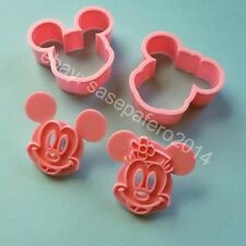 Mickey Mouse and Minnie Mouse cookie cutter with stamp4 pcs. set. Cortador Micky