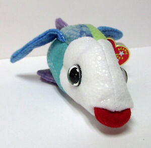 Ty beanie baby propeller the flying fish brand new w for Fish beanie baby