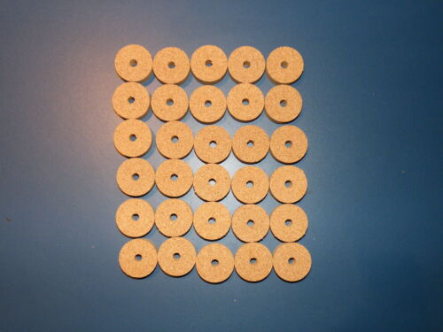 """30 AGGLOMERATED  CORK RINGS 11//4/""""X1//2/"""" FINE GRAIN  BORE 1//4/"""""""