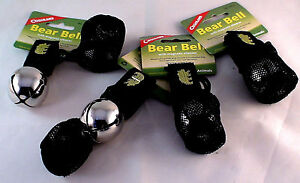 4 PK BEAR BELL SILVER-INCLUDE<wbr/>S SILENCER REPELS MANY UNWANTED PREDITORS-BE SAFE 4