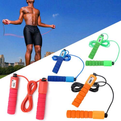 Professional Jump Ropes Éponge Poignée Fitness Compter Corde à sauter corde UK Stock