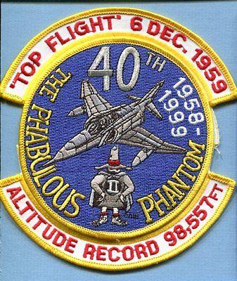 McDONNELL DOUGLAS F-4 PHANTOM TOP FLIGHT 1959 USAF Fighter Squadron Patch