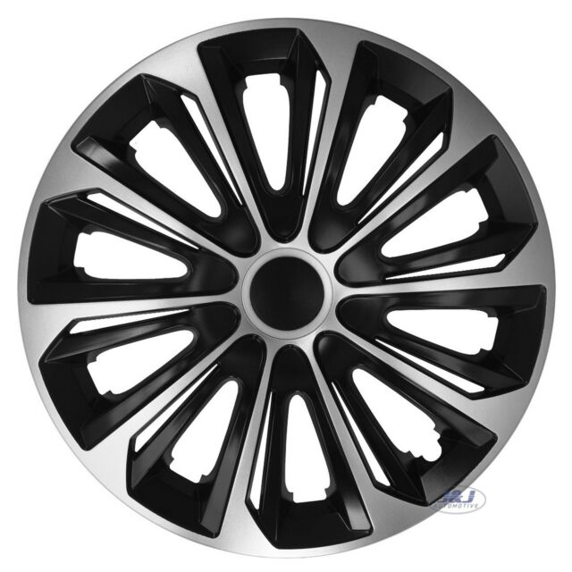 VAUXHALL MERIVA Car Wheel Trims Hub Cap Plastic Covers Lighting 15 Black /& Blue