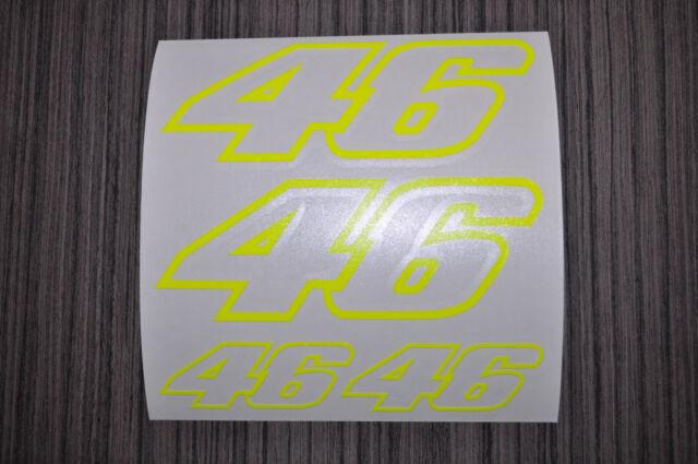 STICKERS FLUO PLANCHE N 46  VALENTINO ROSSI Moto GP ,vr46 autocollant moto FLUO