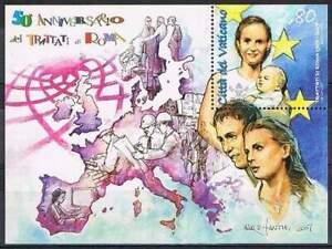 Vaticaan-postfris-2007-MNH-block-30-Verdrag-van-Rome-50-Jaar-S0073
