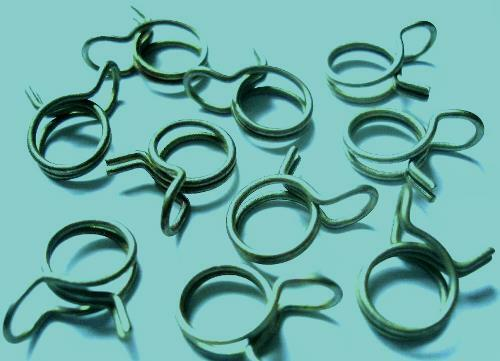 12 CLAMPS ASSORTED POPULAR SIZES DOUBLE WIRE SPRING HOSE CLAMPS