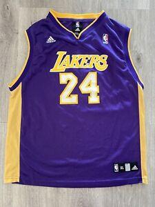 Details about Adidas LA Lakers Kobe Bryant Jersey Youth Size X-Large (18-20) Purple #24