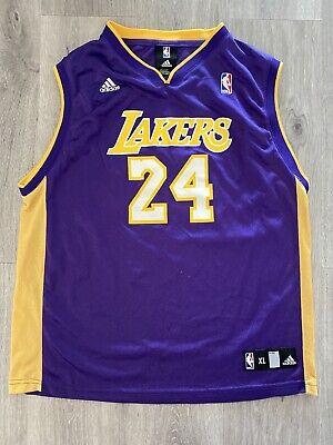 Adidas LA Lakers Kobe Bryant Jersey Youth Size X-Large (18-20) Purple #24 | eBay