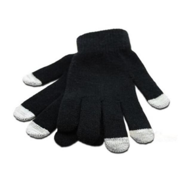 Unisex Black Magic Gloves Touchscreen iPod iPhone Tablet iPad Soft Warm Glove UK