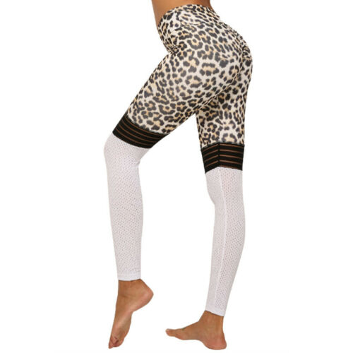 Damen Leggings Leggins Lang Sporthose Fitness Stretch Traininghosen Push Up Hose