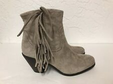 SAM EDELMAN LOUIE TAN SUEDE  ANKLE BOOTS SIZE 7.5M DISPLAY