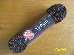 Dark-Brown-Shoe-Boot-Trainer-Laces-150-cm-Flat-LONG-150cm