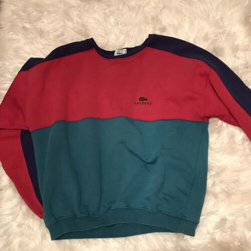 Vintage Lacoste Club Distressed Colorblock Sweatsh