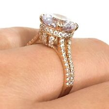 Large 3 Ct Diamond Solitaire Ring Wedding Engagement Jewelry Gold Plated Size 6