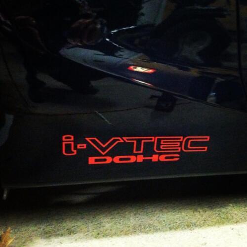 2X Multiple Color Graphics Decal for Honda Civic Drift illest Emblem i-VTEC DOHC