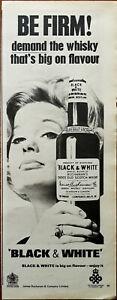 Black & White Buchanan's Choice Old Scotch Whiskey, Be Firm! Vintage Advert 1966
