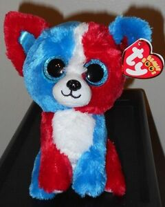 "Ty Beanie Boos - VALOR the 6"" Cracker Barrel Exclusive Dog ~ 2017 NEW ~ IN HAND"
