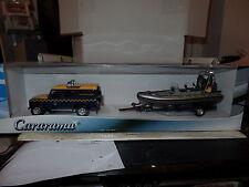 Cararama 48OND 009 1/43 Scale  Boat on Trailer & CR038 1/43 O Scale Land Rover I