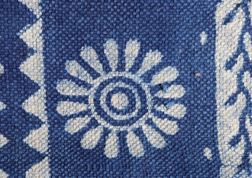 5x7.ft Indigo Dari Rug Cotton Blue Runner Handmade Carpet Floor Rug Modern Rug