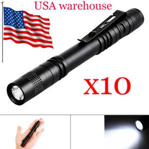 Portable-Mini-Pen-Light-LED-Flashlight-Torch-Flash-Light-Power-By-2x-AAA-battery