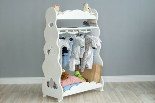 Children Cabinet Wardrobe seventhheaven Solid Wood Beech Wood Colour White