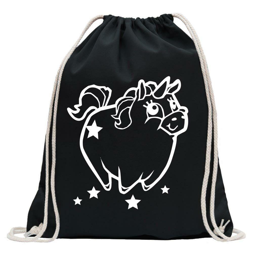 Plump Unicorn Gym Bag Fun Backpack Sports Bag Gymsack Pull Strap