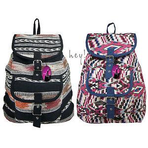 Backpack Ethnic Rucksack Handbag Gym Bag Festival Small