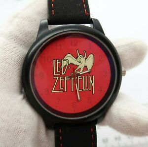 LED-ZEPPELIN-Classic-Logo-Blued-Tint-Dome-Crystal-BIG-MAN-039-S-CHARACTER-WATCH-M-29