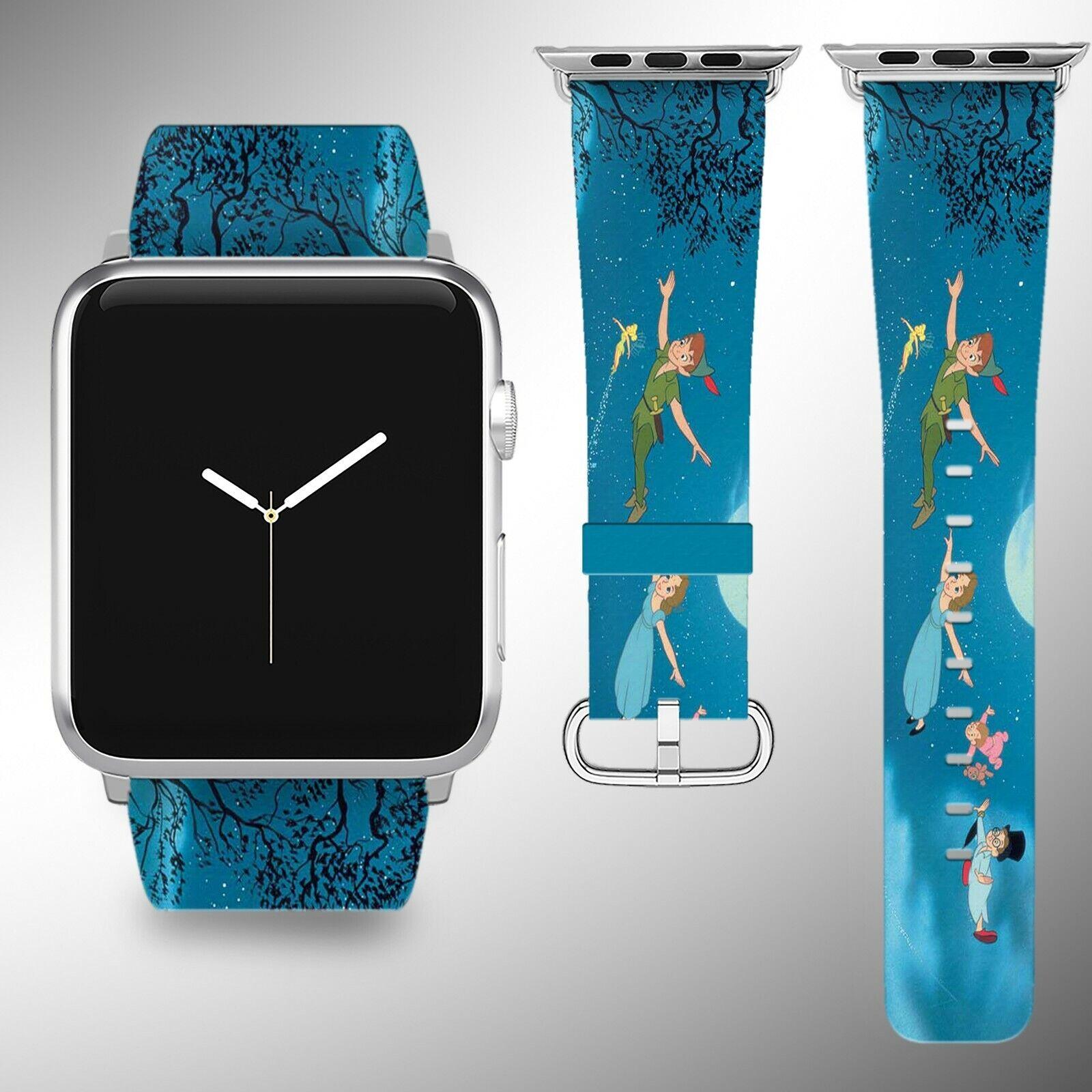 iwatch: Peter Pan Apple Watch Band 38 40 42 44 Series SE 6 5 1 2 3 4 Wrist Strap iWatch