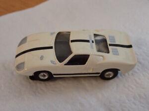 Vintage Aurora Thunderjet 500 White Ford GT Slot Car