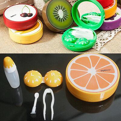 Portable Travel Cute Fruit Shape Contact Lens Case Box Kit Holder Container Set