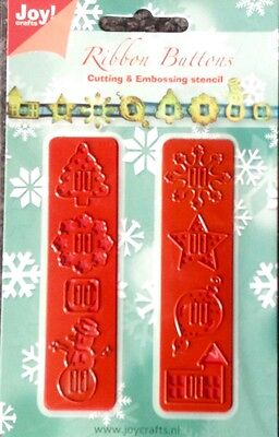 Joy Crafts Christmas Ribbon Buttons Cut and Emboss Die Set 6002//2004