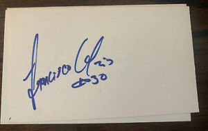 1989 TWINS: Francisco Oliveras, SIGNED 3x5 Card