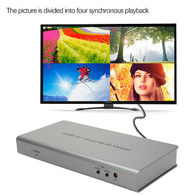 HDMI Switcher 1080P 4x1 Audio Video Splitter Multiviewer Remote Set For PS3 XBox