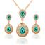 Women-Heart-Pendant-Choker-Chain-Crystal-Rhinestone-Necklace-Earring-Jewelry-Set thumbnail 7
