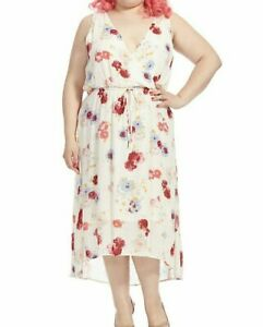 e8b321f0b97 Lucky Brand Sleeveless Chiffon Floral Print Maxi Dress In Ivory Size ...