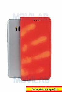 precio nuevo autentico super especiales Detalles de Funda termica sensible al calor tipo libro tarjetas cierre  magnético Galaxy S8