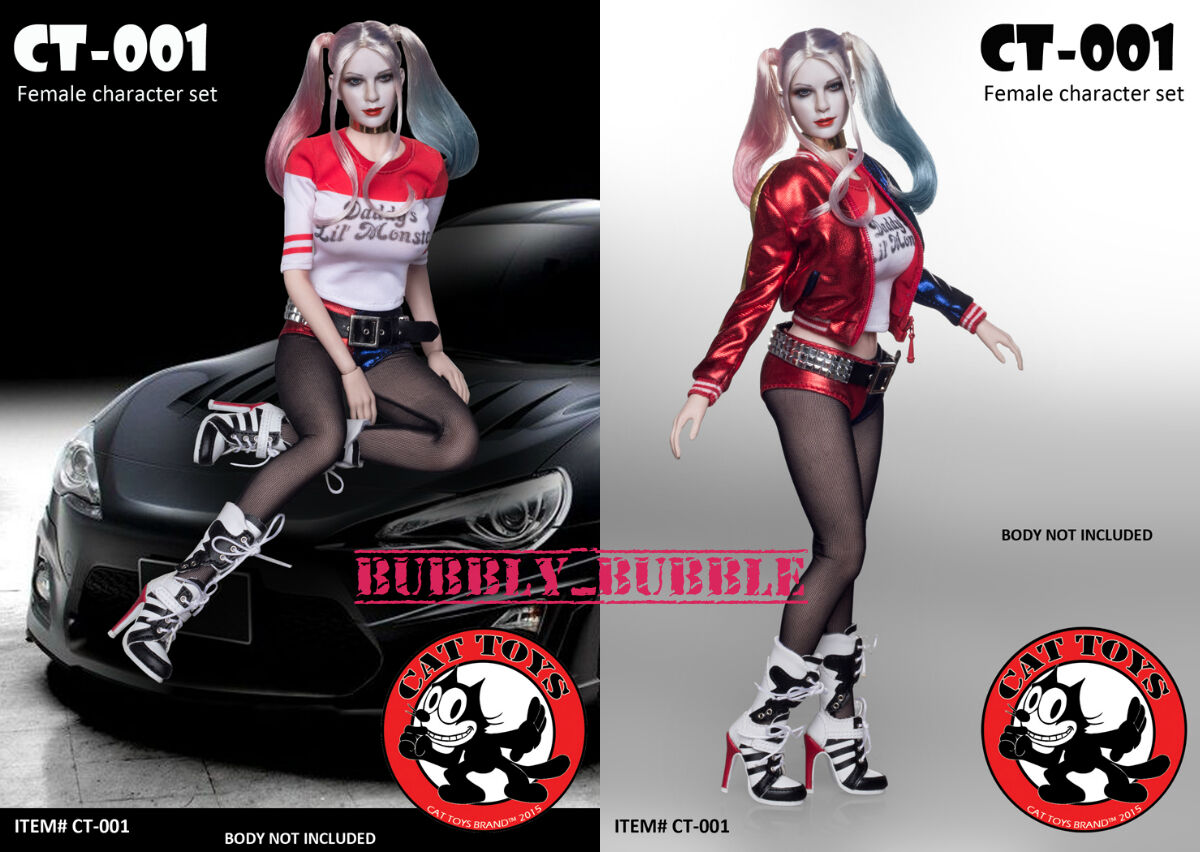 1 6 Harley Quinn Suicide Squad Sexy Clothing Set Phicen Hot Toys SHIP FROM USA