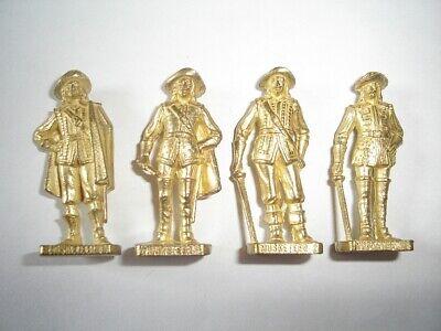 FRENCH MUSKETEERS GOLD VINTAGE KINDER SURPRISE MINIATURES METAL FIGURINES SET
