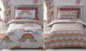 Clouds Rainbows Hope Duvet Cover Girls Reversible Single Bed Quilt Bedding Set Ebay