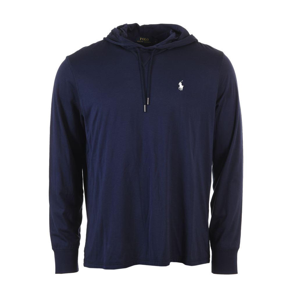 POLO RALPH LAUREN Hooded Sweater Navy Cotton Größe Large HC 150