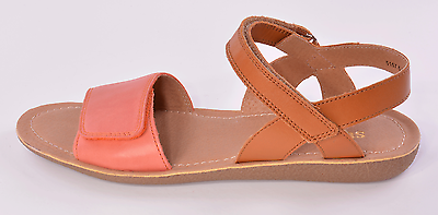 Startrite Vanda Girls Coral & Tan Leather Sandals UK 1 F EU 33 US 1.5