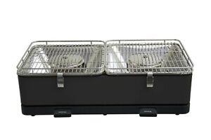 Feuerdesign-Santorin-Holzkohle-Tischgrill-mit-zwei-separaten-Grillflaechen