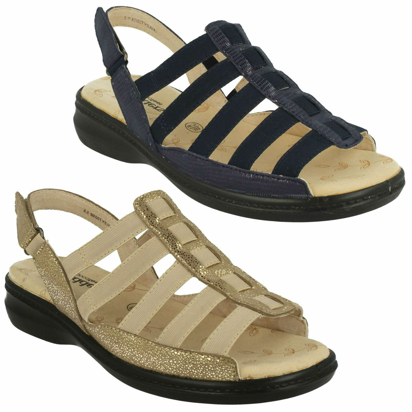 LADIES PADDERS LESLEY TOE ROUND TOE STRAPPY OPEN TOE LESLEY CASUAL COMFORT SUMMER SANDALS 73aa5c