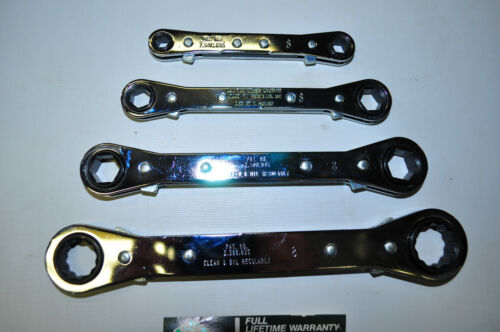 """SK Hand Tools SAE  4 Piece 1//4 to 3//4/"""" Ratcheting Box End Wrench Set Made in USA"""