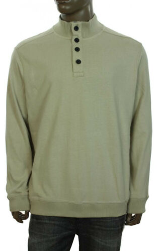 NEW MENS CLUB ROOM MOCK NECK BRUSHED JERSEY SWEAT SHIRT SWEATER