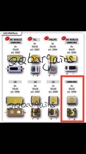 TV Backlight LED Diodes LED SMD 3535 3V Cool White Samsung Vizio LG RCA 10PCS